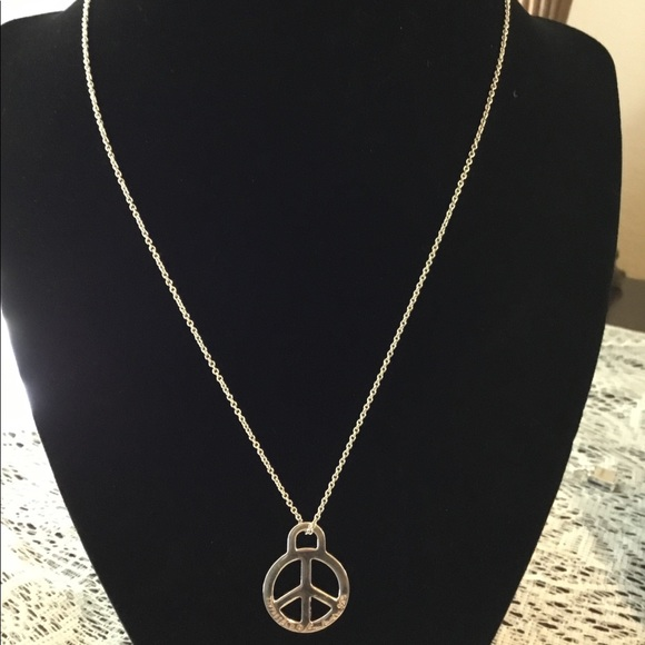 237aefb4d Tiffany & Co. Jewelry | Tiffany Co Signed Peace Pendant Necklace ...